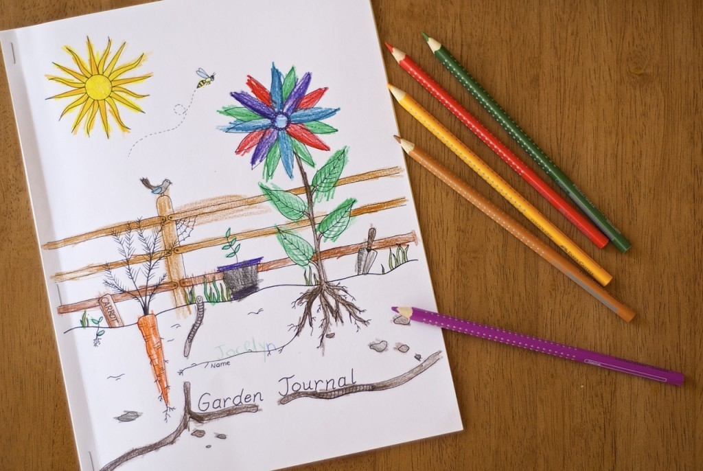 Use this free resource to make your own garden journal!